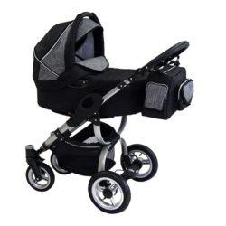 Детская коляска Reindeer City Cruise 3 в 1 (черный/серый)