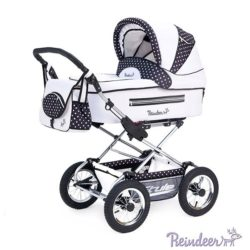 Детская коляска Reindeer Style 2 в 1 с конвертом (синий/белый)