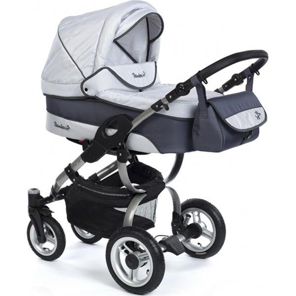 Детская коляска Reindeer City Nova 2 в 1 (Серый/синий)
