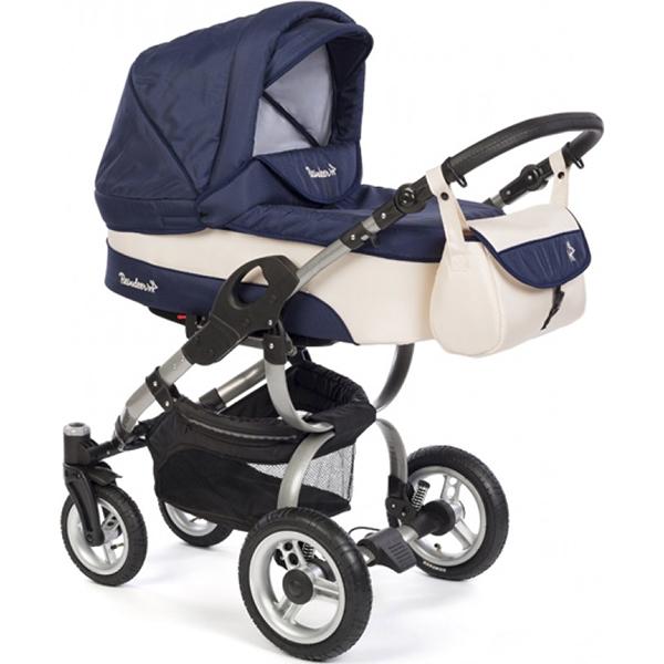 Детская коляска Reindeer City Nova 3 в 1 (Синий/белый)