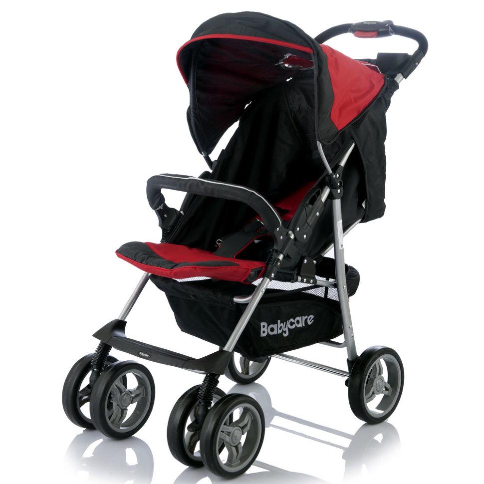 Детская прогулочная коляска Baby Care Voyager (черный/красный)