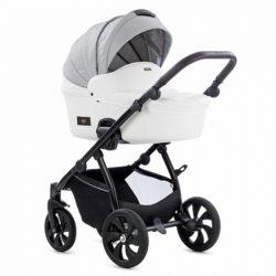 Детская коляска Tutis Aero 2 в 1 New 2019 №110 (Серый-Белый) кожа