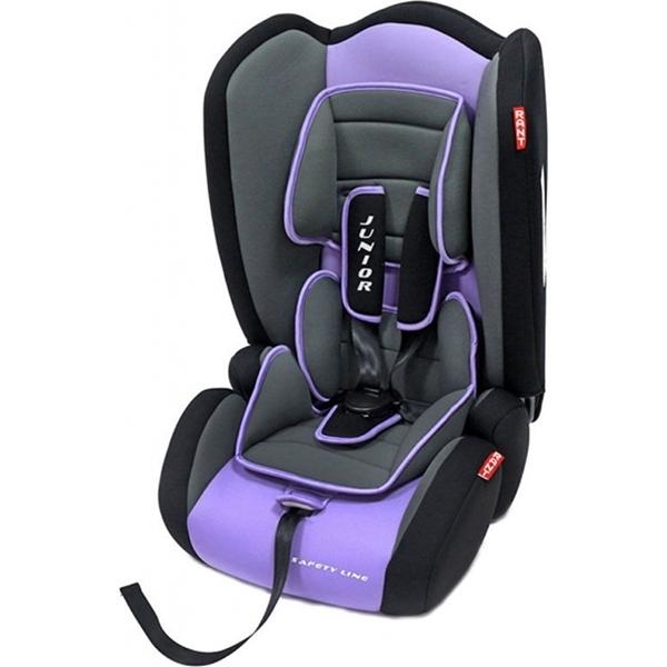 Детское автокресло Rant Safety Line Junior (Черный/фиолетовый)