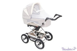 Детская коляска Reindeer Style 2 в 1 с конвертом (серый)