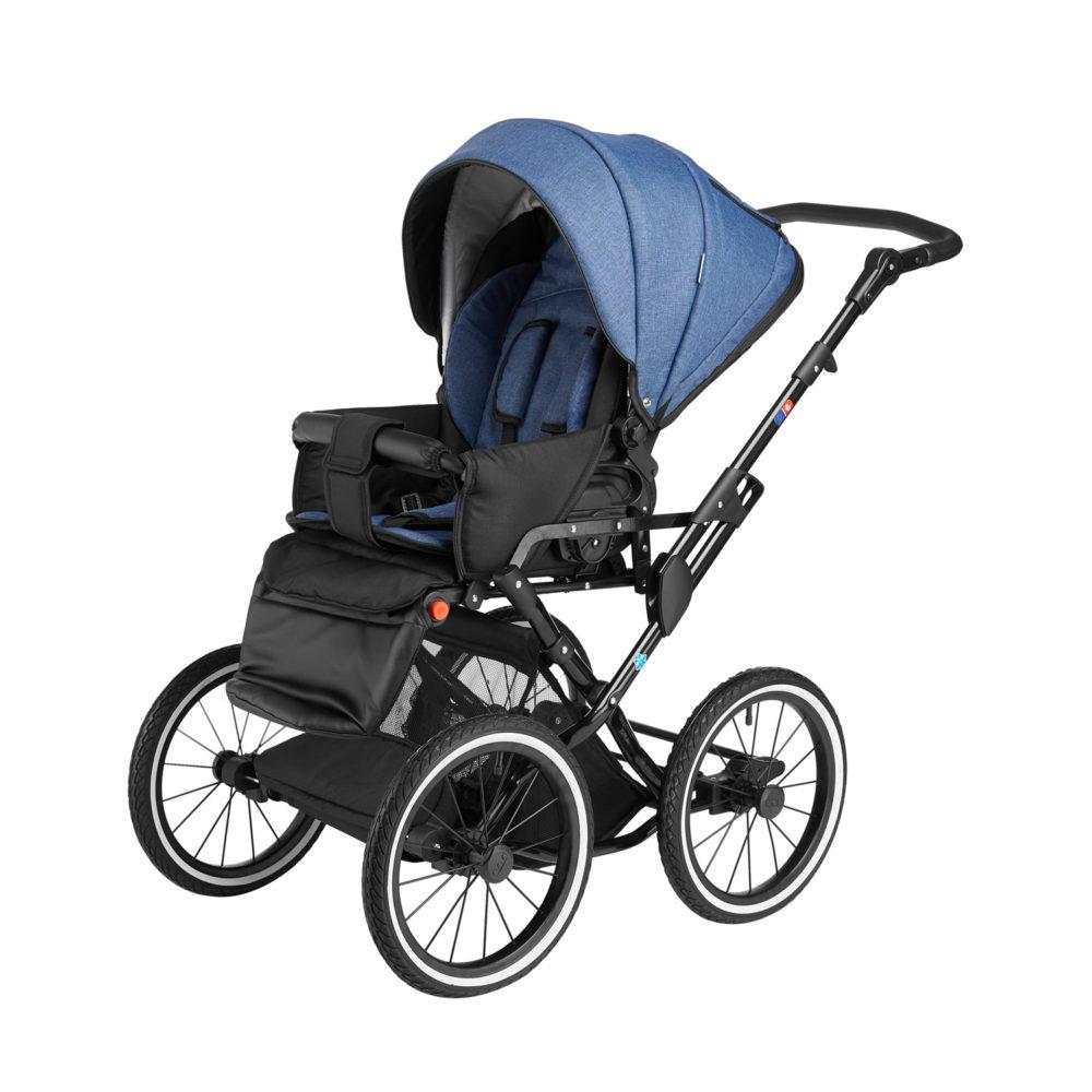 Детская коляска Noordline Olivia Classic 3 в 1 (Синий)