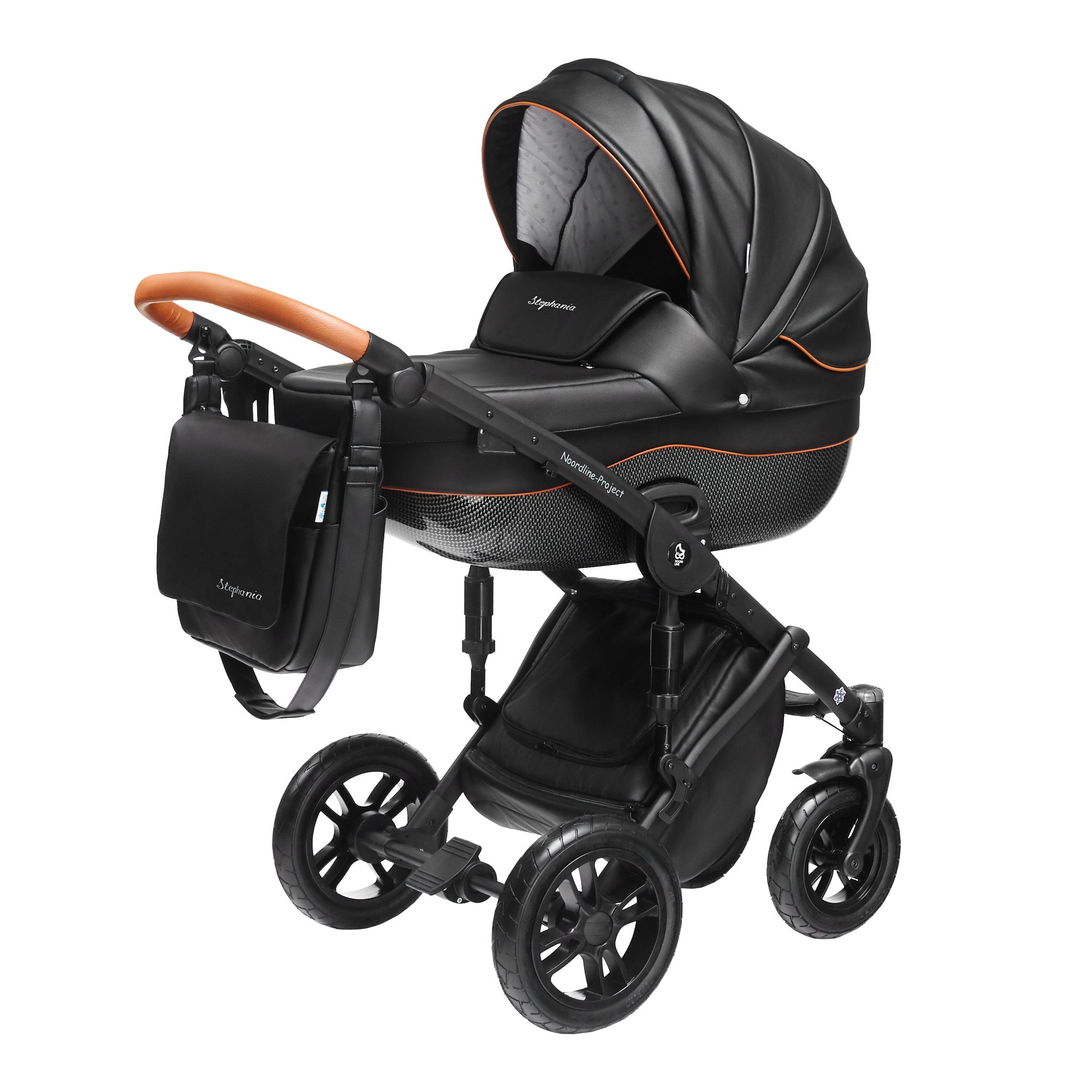 Детская коляска Noordline Stephania Style 3 в 1 (черный)