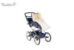 Детская коляска Reindeer Style Leather Collection 3 в 1 с конвертом (синий/белый)