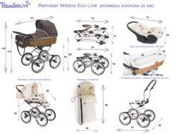 Коляска-люлька для новорожденного Reindeer Prestige Wiklina Eco-line (белый)