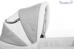 Детская коляска Reindeer Prestige Lily 2 в 1, эко-кожа (серый)