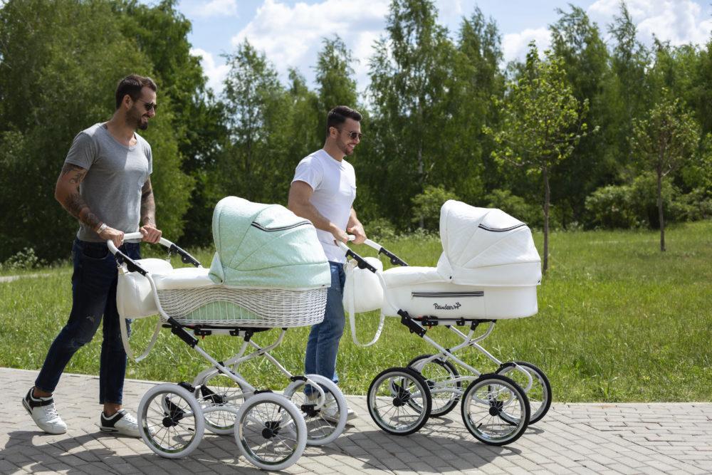 Детская коляска Reindeer Prestige Wiklina 3 в 1 (зеленый)