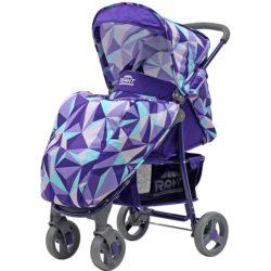 Прогулочная коляска Rant Kira, 2017 (фиолетовый с рисунком)