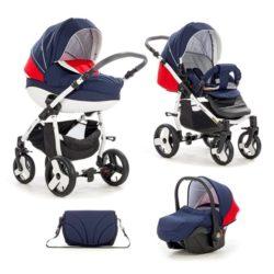 Детская коляска Tutis Mimi Plus Эксклюзив 3 в 1 (синий/красный)