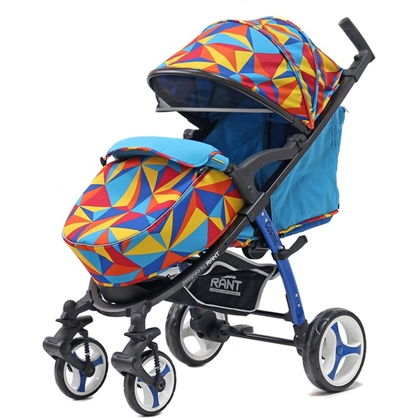 Детская прогулочная коляска Rant Cosmic Alu (Голубой с рисунком)