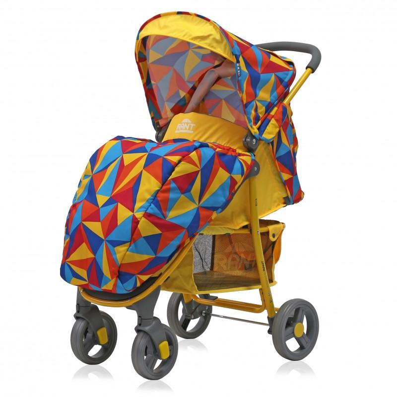Прогулочная коляска Rant Kira, 2017 (желтый с узором)