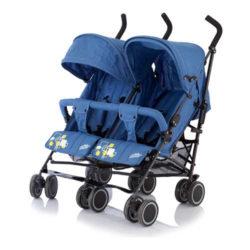 Коляска-трость для близнецов Baby Care City Twin (Синий)