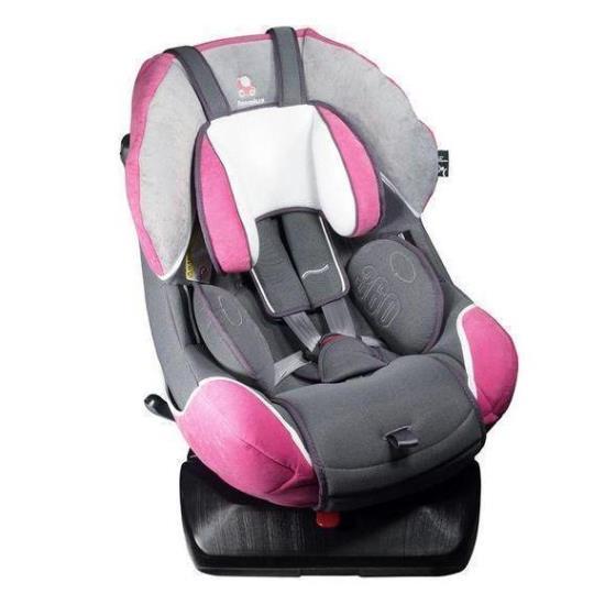 Детское автокресло Renolux 360 гр. 0+/1 (Серый/розовый)