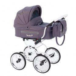Детская коляска Reindeer Prestige Lily 2 в 1, эко-кожа (фиолетовый )