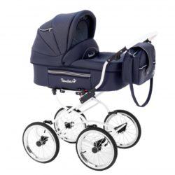 Детская коляска Reindeer Prestige Lily 2 в 1, эко-кожа (темно-синий)