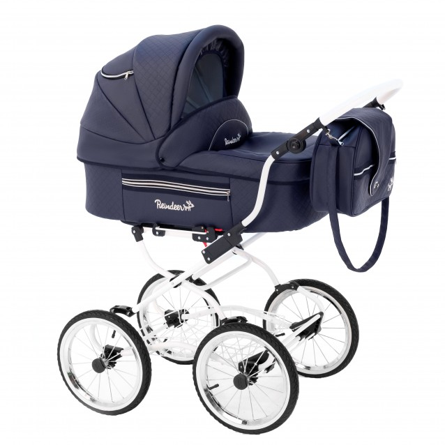 Детская коляска Reindeer Prestige Lily 3 в 1 с конвертом (темно-синий)