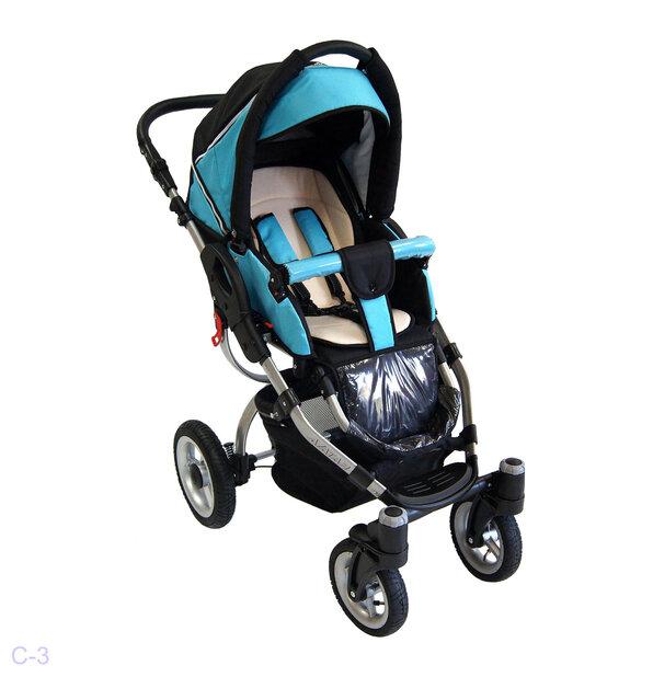 Детская коляска Reindeer City Cruise 2 в 1 (черный/голубой)