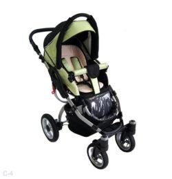 Детская коляска Reindeer City Cruise 2 в 1 с конвертом (черный/зеленый)