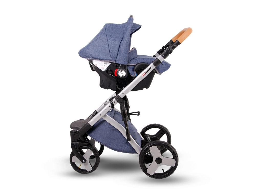 Детская коляска LONEX COMFORT CARRELLO 3 В 1 (Джинсовый)