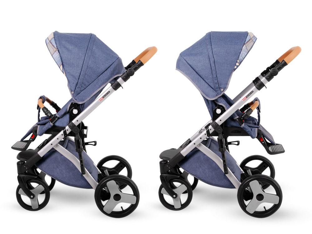 Детская коляска LONEX COMFORT CARRELLO 2 В 1 (Джинсовый)