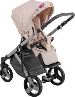 Детская коляска LONEX COMFORT CARRELLO 3 В 1 (Бежево-оранжевый)