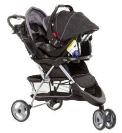 Детская коляска Ramili Baby Rapid TS 2 в 1 (Черный)