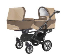 Коляска для двойни BabyActive Twinny Standart 2 в 1 Black (Бежевый)