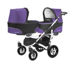 Коляска для двойни BabyActive Twinny Standart 2 в 1 White (Фиолетовый)