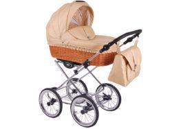 Детская коляска LONEX CLASSIC RETRO 3 в 1 (Светло-бежевый)