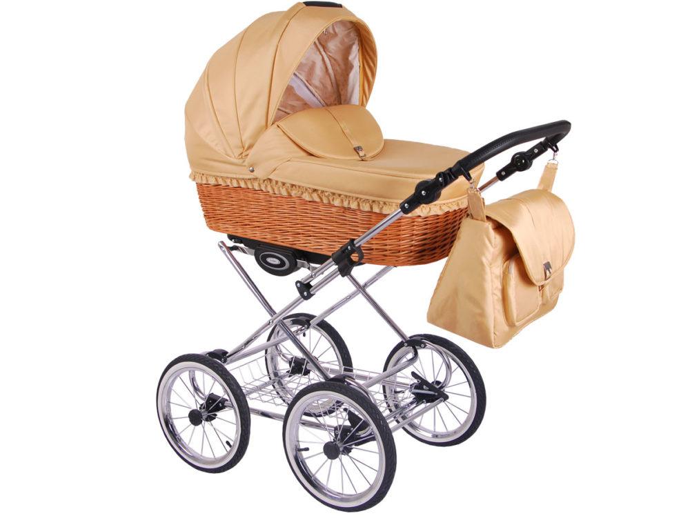 Детская коляска LONEX CLASSIC RETRO 3 в 1 (Бежевый)
