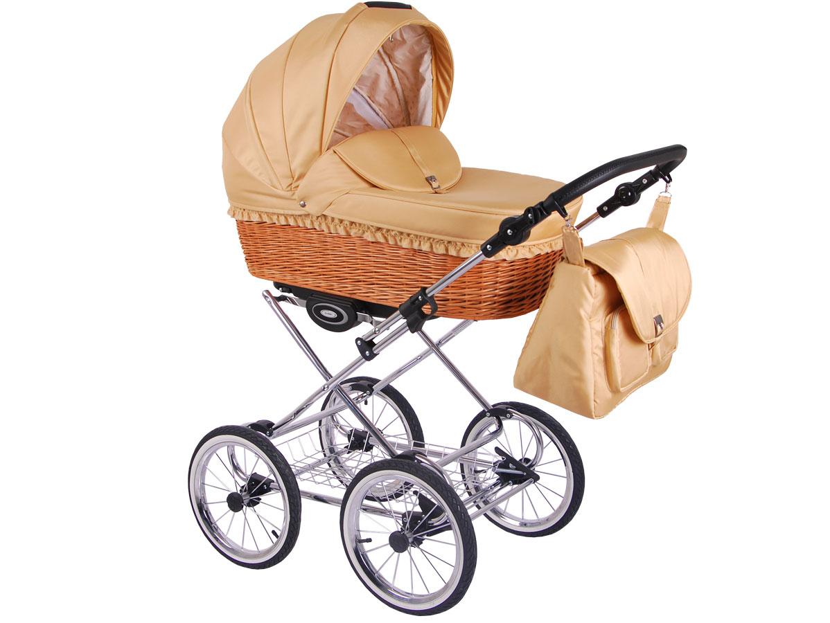 Детская коляска LONEX CLASSIC RETRO 2 в 1 (Бежевый)