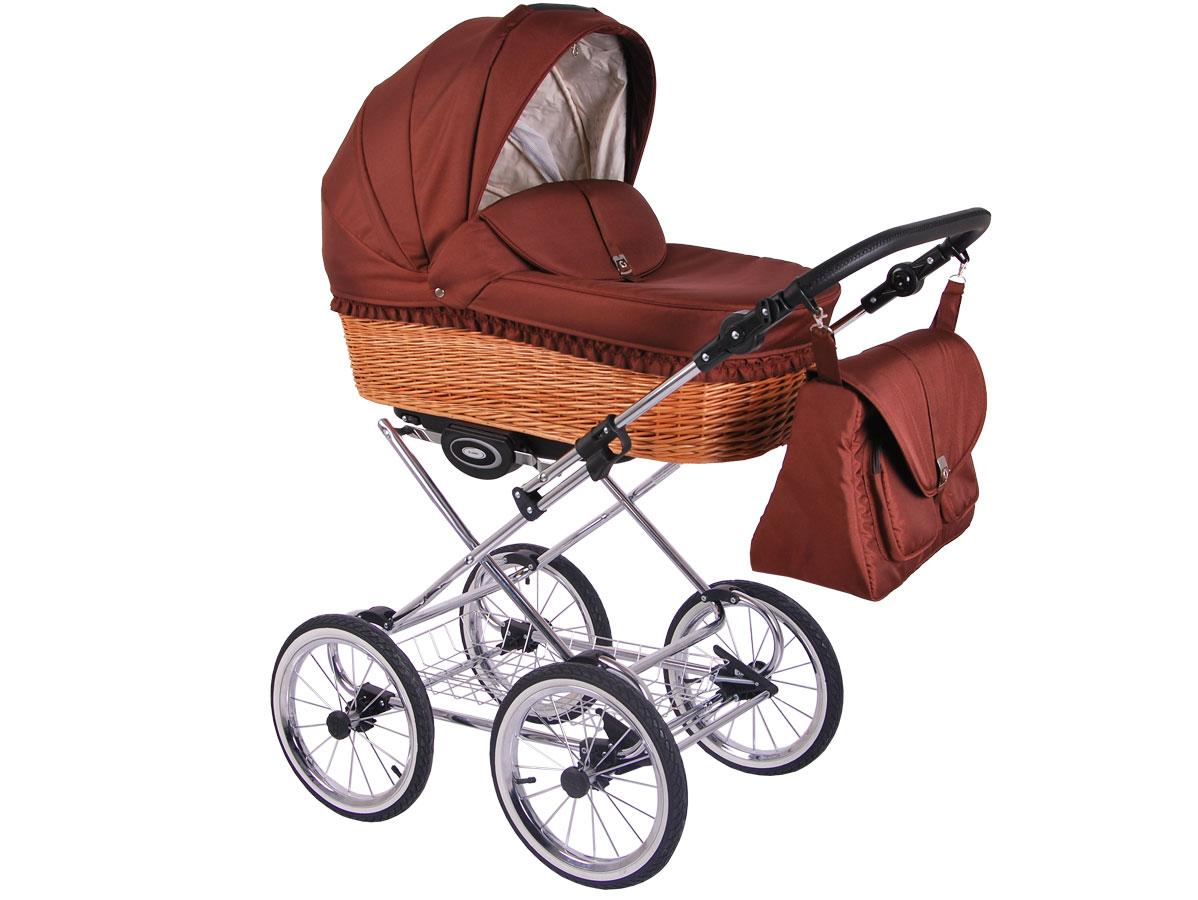 Детская коляска LONEX CLASSIC RETRO 2 в 1 (Коричневый)