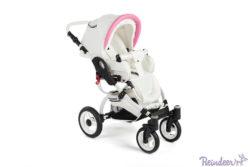 Детская коляска-люлька Reindeer City Prestige Wiklina люлька+автокресло с конвертом (белый-розовый)