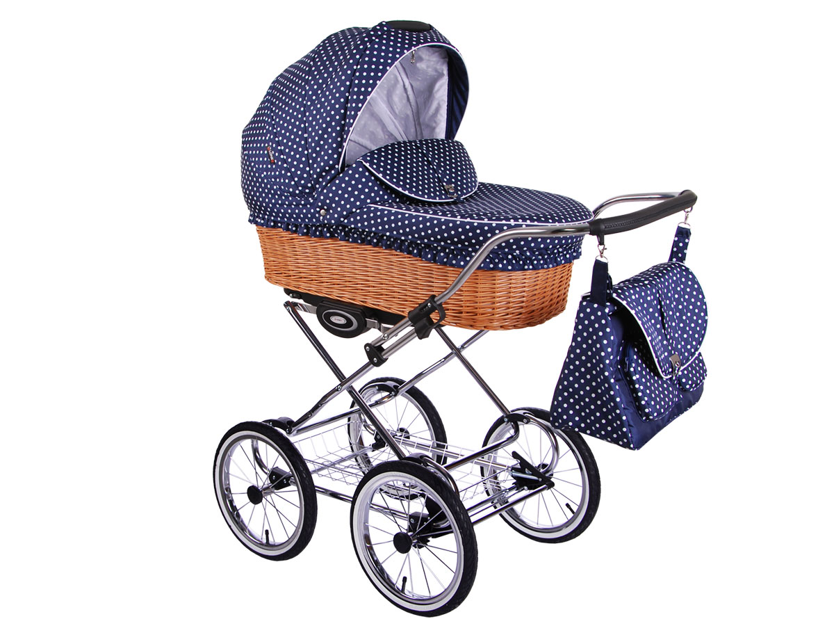 Детская коляска LONEX CLASSIC RETRO 2 в 1 (Темно-синий)