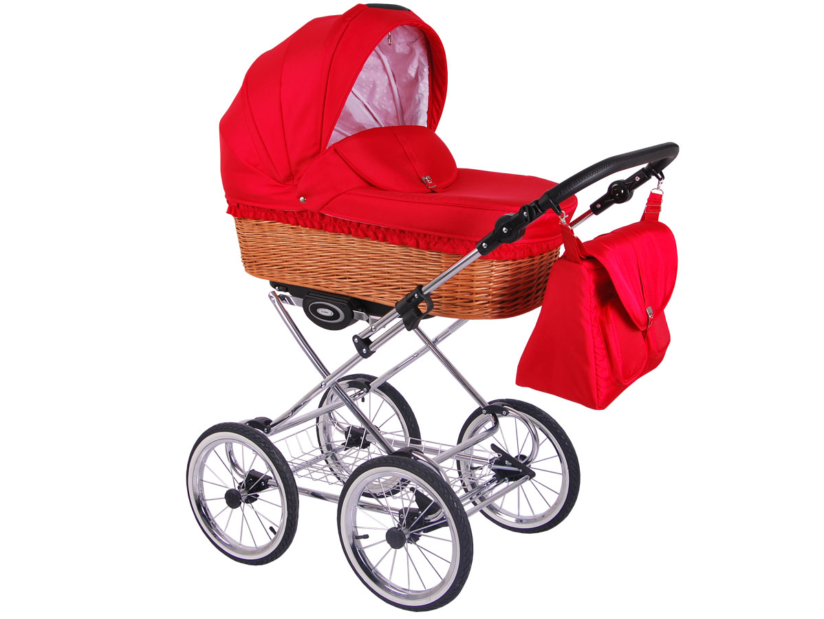 Детская коляска LONEX CLASSIC RETRO 2 в 1 (Красный)