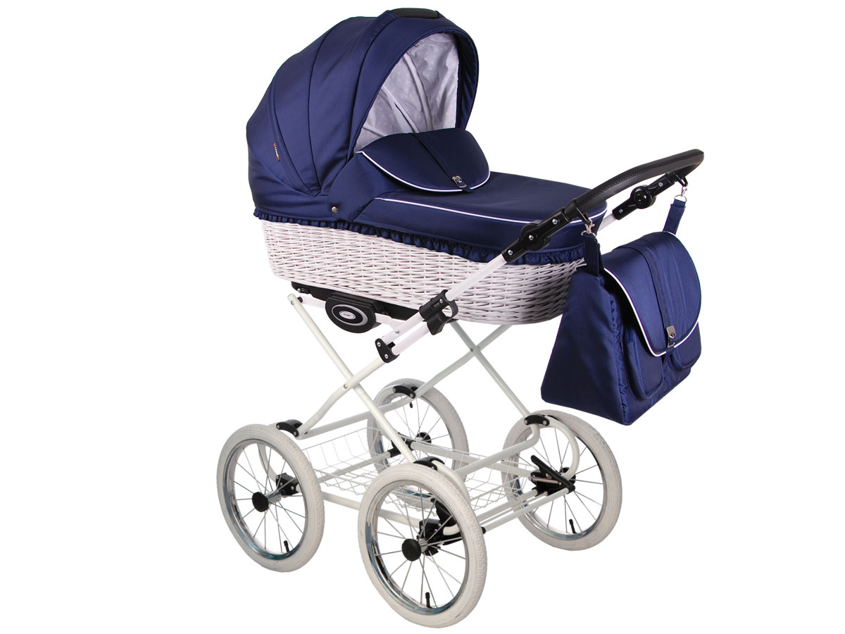 Детская коляска LONEX CLASSIC RETRO 3 в 1 (Синий)