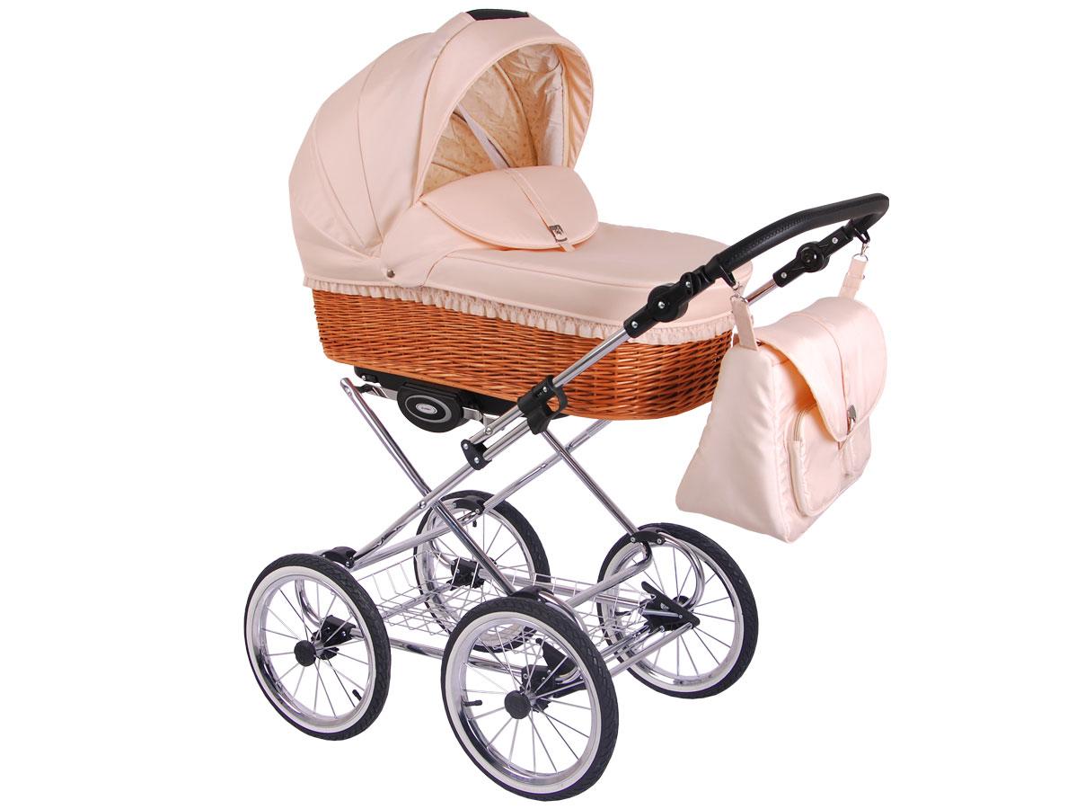 Детская коляска LONEX CLASSIC RETRO 3 в 1 (Светло-розовый)