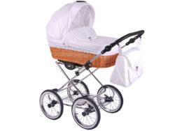Детская коляска LONEX CLASSIC RETRO 3 в 1 (Светло-белый)