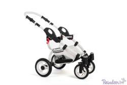 Детская коляска Reindeer City Prestige Wiklina 3 в 1 с конвертом (бирюзовый)