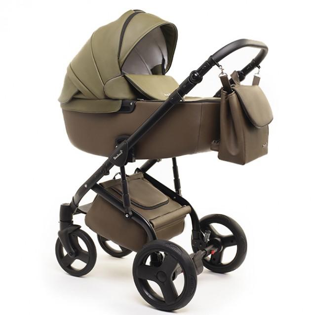 Детская коляска Reindeer Raven 2 в 1 (Зеленый/коричневый)