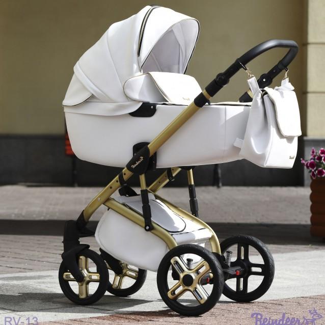 Детская коляска Reindeer Raven 2 в 1 (Светло-бежевый)