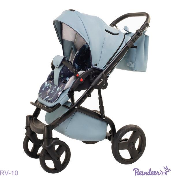 Детская коляска Reindeer Raven 2 в 1 (Голубой)
