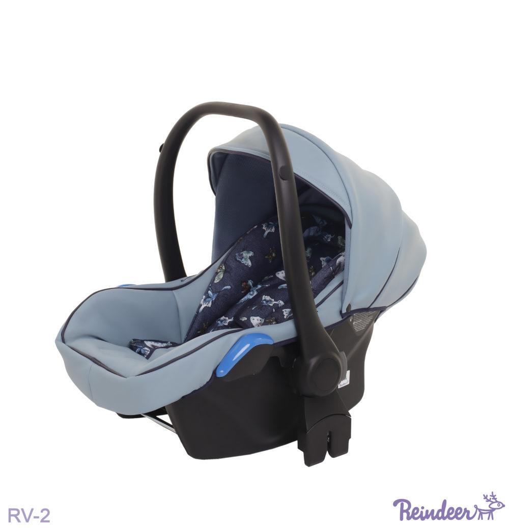 Детская коляска Reindeer Raven 3 в 1 (Голубой)
