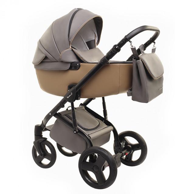 Детская коляска Reindeer Raven 2 в 1 (Серый/бежевый)