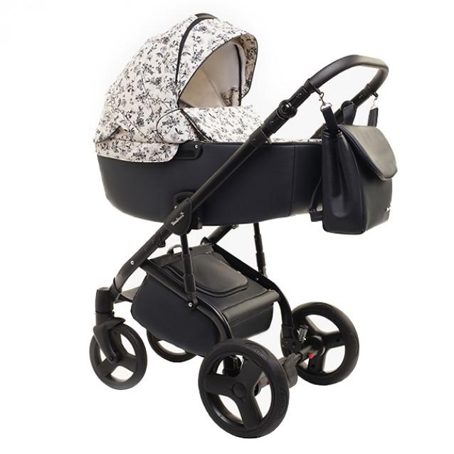 Детская коляска Reindeer Raven 2 в 1 (Черный/белый)