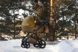 Детская коляска Reindeer Raven 3 в 1 (Зеленый/Коричневый)