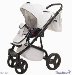 Детская коляска Reindeer Raven 2 в 1 (Белый)